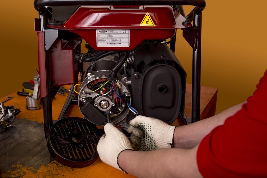 281Установка своими руками электростартера на бензогенератор